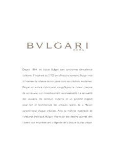 Catalogue Bulgari Joaillerie 2017 page 3