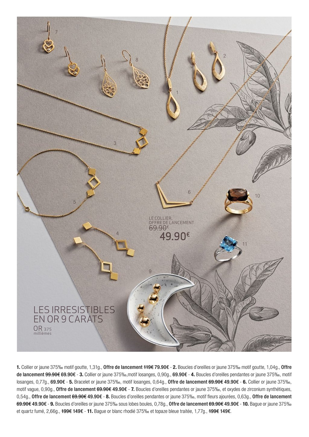 collier or femme carrefour
