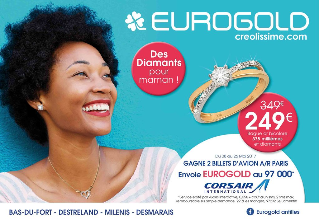 catalogue eurogold guadeloupe f te des m res 2017 catalogue de bijoux. Black Bedroom Furniture Sets. Home Design Ideas