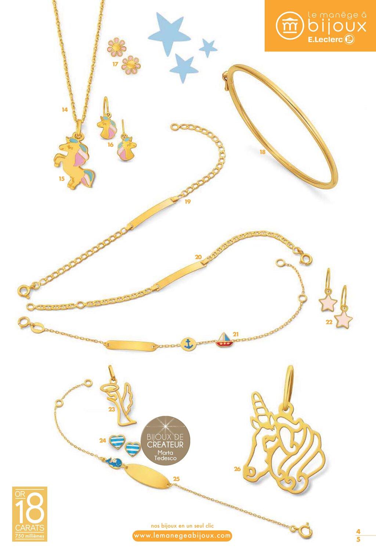 manège à bijoux leclerc bijoux enfants