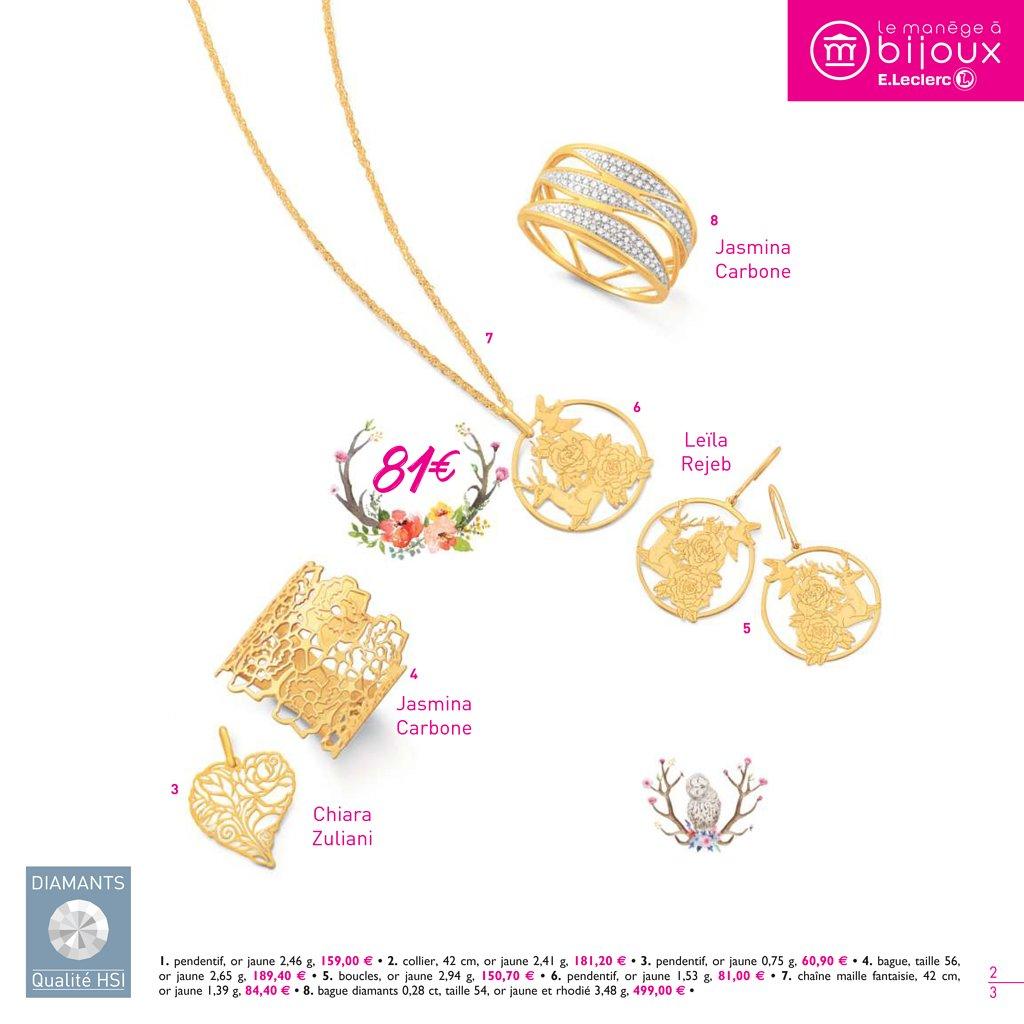 manège bijoux leclerc catalogue